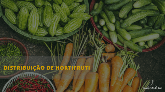 Distribuição Hortifruti - Casa Cristo do Bem